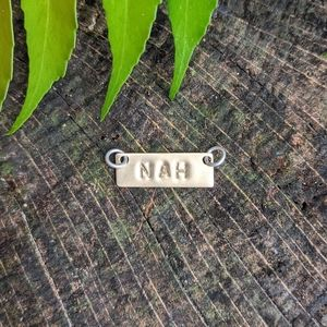 "❌""Nah"" Handmade Necklace Bar Charm❌"
